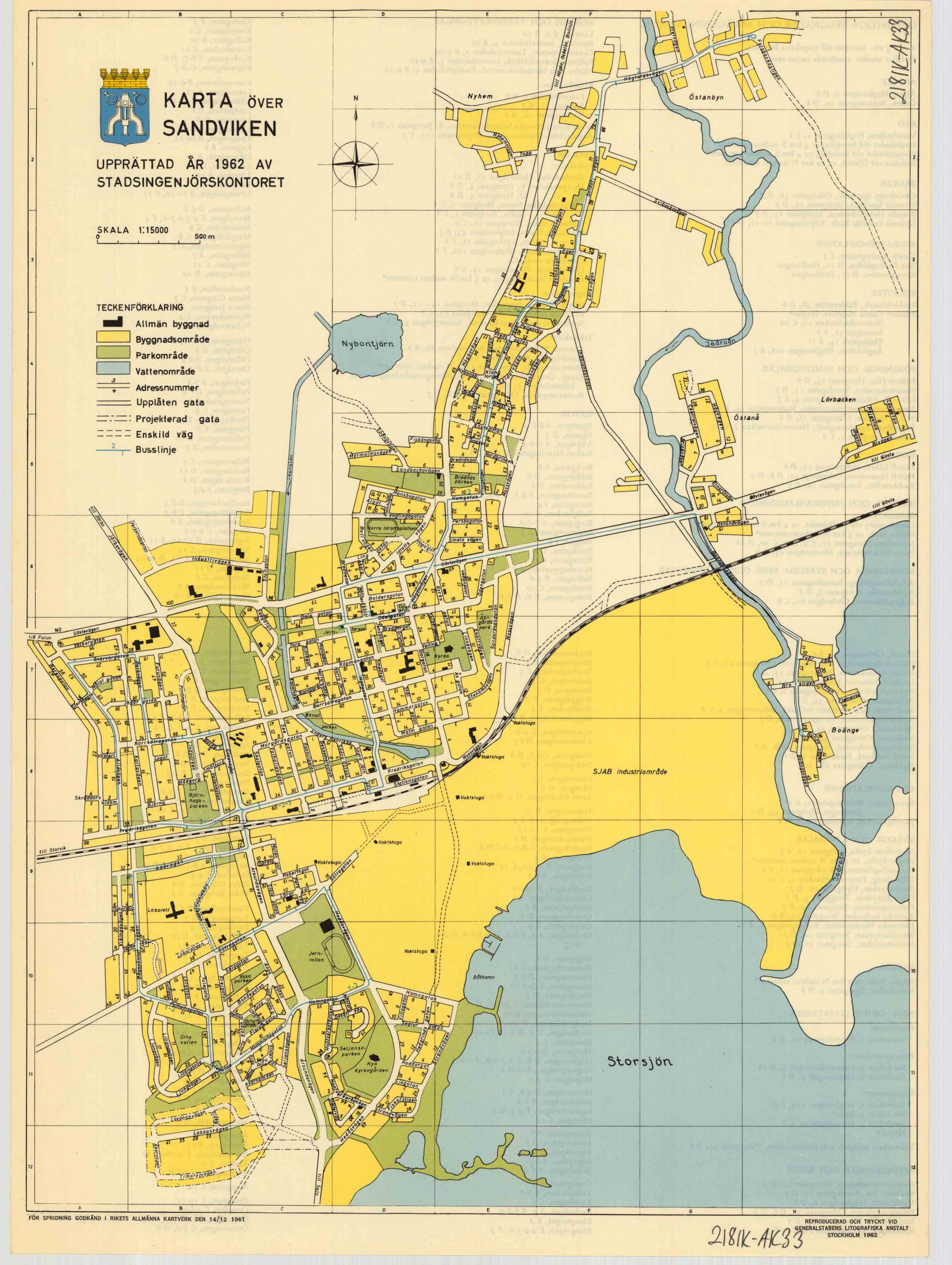 sandviken karta Äldre kartor från Sandvikens kommun   Sandvikens kommun sandviken karta